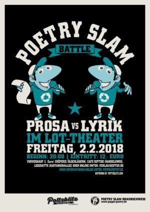 "Poetry Slam Special ""Lyrik vs Prosa"" (Ticket für den 2.2.)"